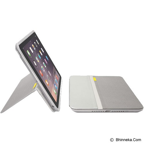 LOGITECH AnyAngle Protective Case for Apple iPad Mini [939-001200] - Pale Grey - Casing Tablet / Case